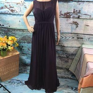 Jenny Yoo Purple/Plum Dress, Size 6, 52 in Long